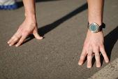 Mains sur démarrer — Photo