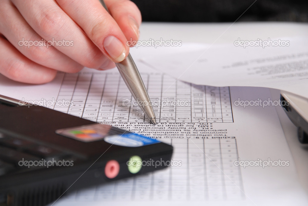 Viewing business papers — Stock Photo #7629390