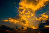 Colorful dramatic sky with cloud — Stock Photo
