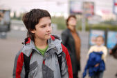 The boy in the street — Stock Photo