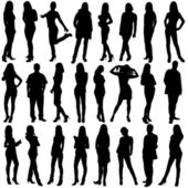 24 silhouettes — Stock Photo
