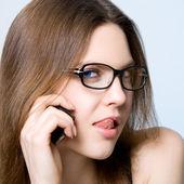 電話の女の子 — ストック写真