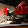 Red open truck — Stock Photo