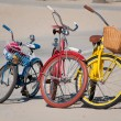 Stock Photo: Three Bikes