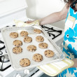 Woman Baking in Kitchen — Stock Photo