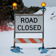 Road Closed Sign - Stock Photo