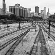 chicago railroad — Stock Photo