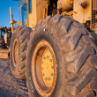 Tractors Wheels - Stock Photo