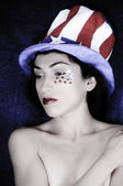 Fourth of July Woman — Stock Photo