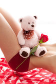 Valentine's Teddy Bear — Stock Photo