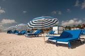 Miami Beach Umbrellas — Stock Photo