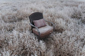 Frosty Vintage Chair — Stock Photo