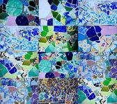 Gaudi mosaic — Stock Photo