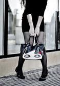 Girl legs — Stock Photo