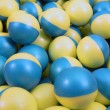 Blue and Yellow Paintballs — Stock Photo
