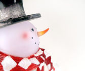 Frosted Glass Snowman — Stock Photo