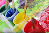 Messy Children's Paint Set — Stock Photo
