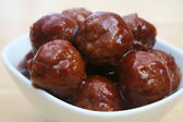 Glazed Meatballs — Stock Photo