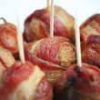 Foto de Stock  : Bacon Wrapped Meatballs