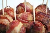 Almôndegas de enrolado bacon — Foto Stock