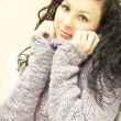 Beautiful woman in a sweater — Stock Photo