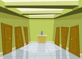 Green corridor — Stock Vector
