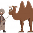 Conductor and camel — Stock Vector #7614531