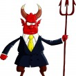 Devil boss — Stock Vector