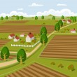 Farmland - Stock Vector