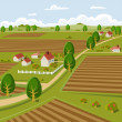 Farmland — Stock Vector