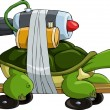 Turbo turtle — Vector de stock
