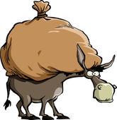 Esel — Stockvektor