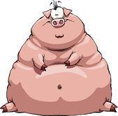 Fat pig — Stock Vector