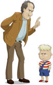 отец и сын — Cтоковый вектор