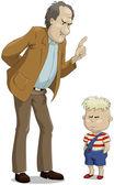 O pai e o filho — Vetorial Stock