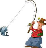 Rybář — Stock vektor