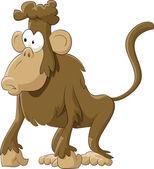 Monkey on a white background, vector illustration — Stock Vector