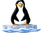 Pingüino — Vector de stock