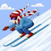 Skifahrer — Stockvektor