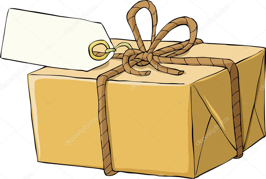 Box on a white background, vector illustration — Stock Vector #7614488