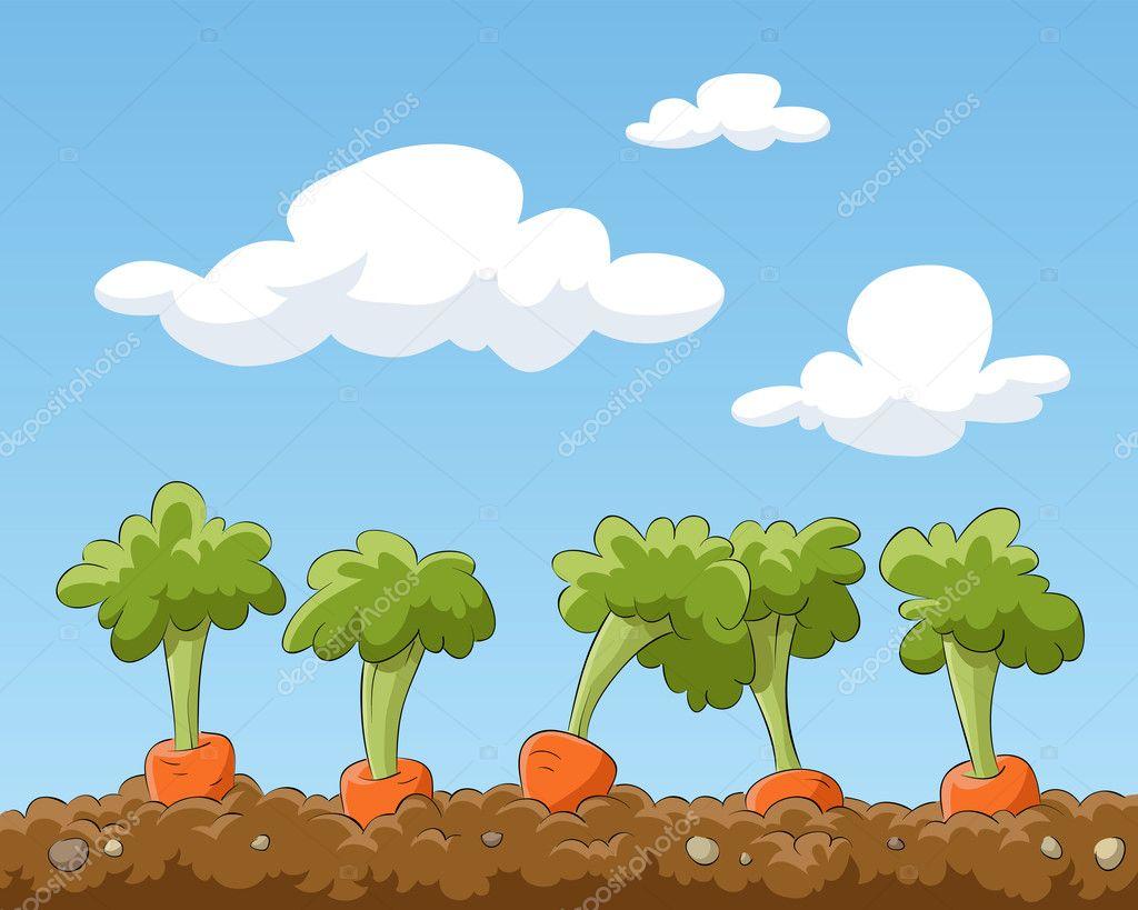 花园风景动态卡通图