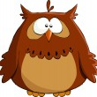 Brown owl - Stock Vector