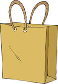 Shopping bag — Vettoriale Stock