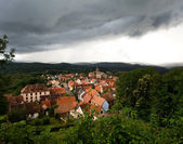 Village and storm — Stock Photo