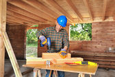 Woodworker four — Stock Photo