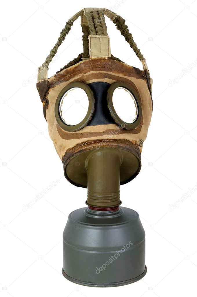 A gas mask ancient wars. — Stock Photo #7754893