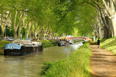Canal and boats — Stock Photo