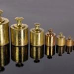 Brass weights — Stock Photo
