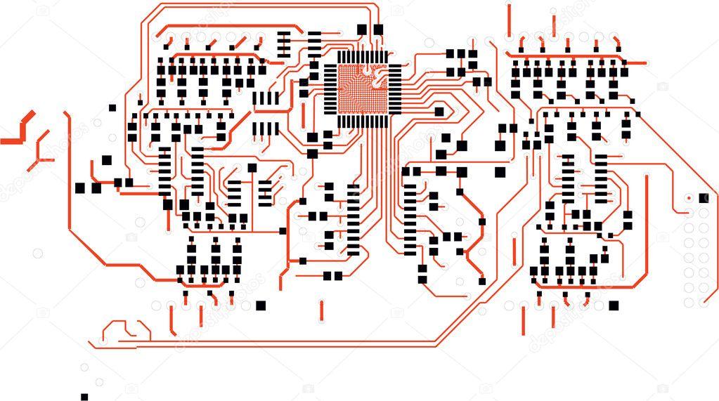 Электрическая схема печатной