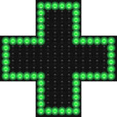 Pharmacy LED cross — Stock vektor